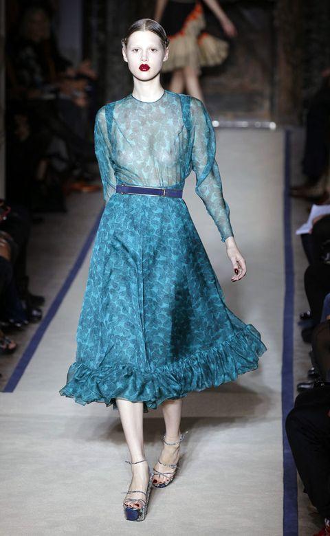 Blue, Shoulder, Joint, Style, Dress, One-piece garment, Pattern, Fashion, Fashion model, Teal,