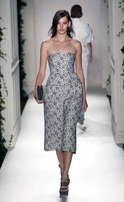 Clothing, Dress, Shoulder, Joint, Human leg, Fashion model, One-piece garment, Style, Waist, Day dress,