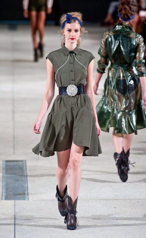 Clothing, Leg, Dress, Human leg, Style, Fashion model, Street fashion, Fashion accessory, Fashion, Fashion show,