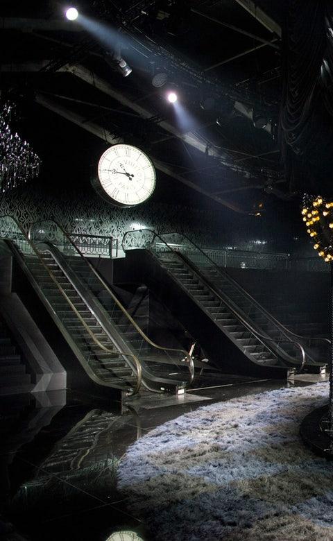 Stairs, Darkness, Space, Midnight, Clock,