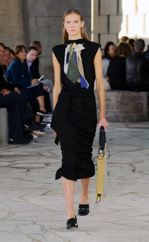 Clothing, Leg, Shoulder, Fashion show, Outerwear, Style, Formal wear, Fashion model, Dress, Street fashion,