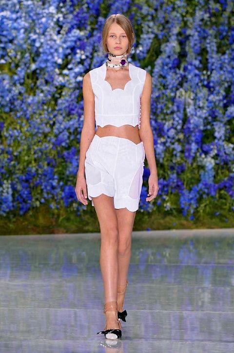 Blue, Shoulder, Human leg, Joint, Fashion show, Waist, Style, Summer, Electric blue, Lavender,
