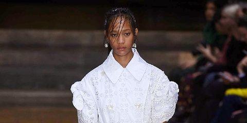 Clothing, Shoulder, Style, Formal wear, Dress, Fashion, Neck, Fashion model, Street fashion, Runway,