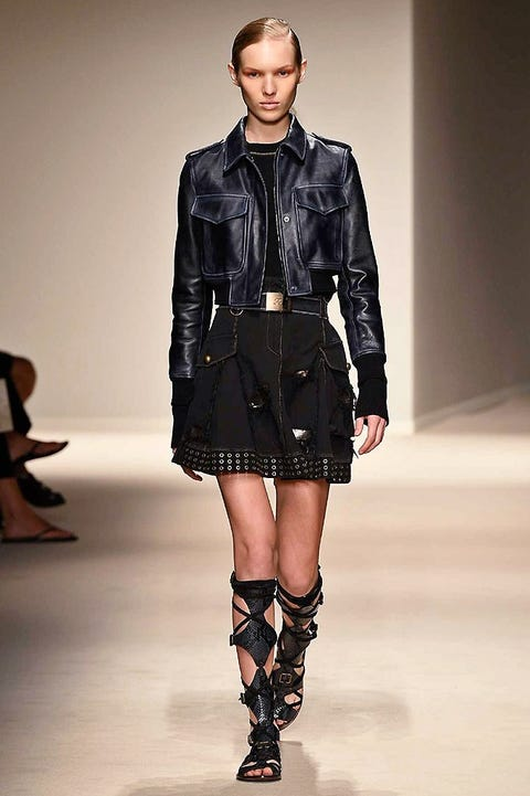 Clothing, Leg, Fashion show, Sleeve, Human body, Collar, Textile, Joint, Outerwear, Human leg,
