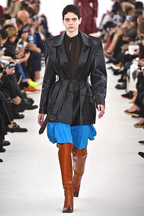Clothing, Human, Fashion show, Event, Runway, Outerwear, Fashion model, Style, Street fashion, Fashion,