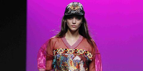 Fashion model, Fashion, Fashion show, Runway, Clothing, Shoulder, Fashion design, Beauty, Model, Footwear,