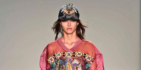 Fashion model, Fashion show, Fashion, Runway, Shoulder, Clothing, Joint, Footwear, Public event, Dress,