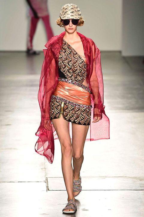Fashion model, Fashion, Fashion show, Runway, Clothing, Eyewear, Public event, Fashion design, Outerwear, Event,