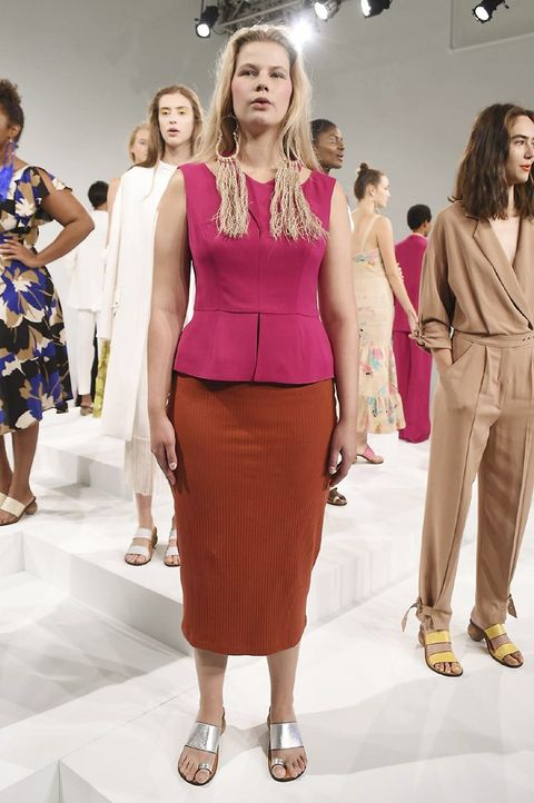 Fashion model, Fashion, Runway, Clothing, Fashion show, Fashion design, Beauty, Dress, Skin, Hairstyle,