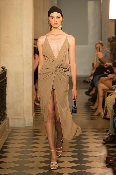 Fashion model, Fashion, Fashion show, Runway, Clothing, Shoulder, Haute couture, Dress, Fashion design, Event,