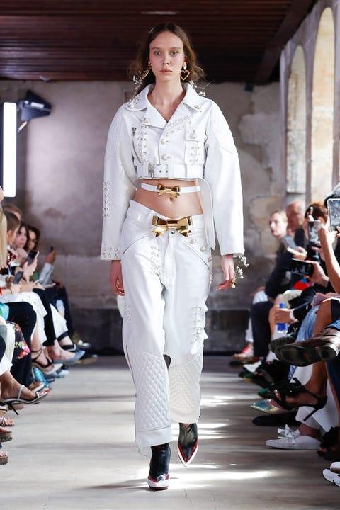 Clothing, Footwear, Leg, Fashion show, Runway, Outerwear, Fashion model, Style, Fashion, Model,