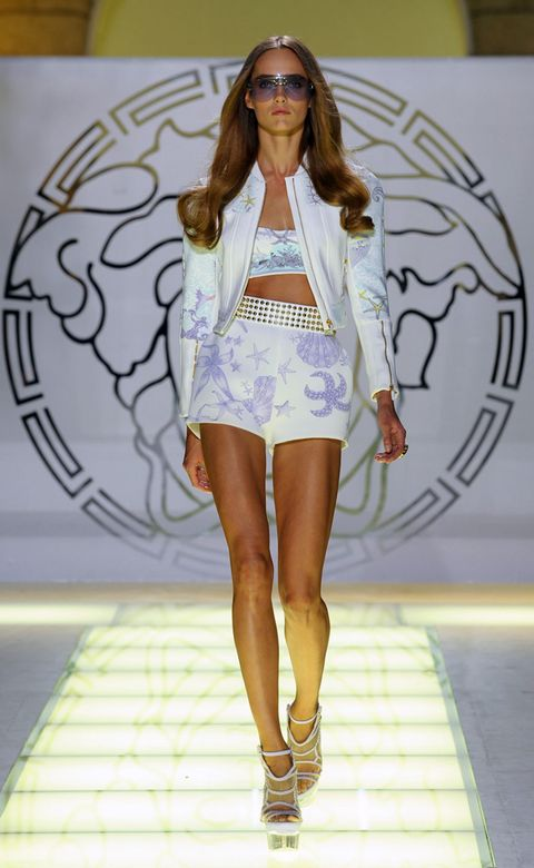Clothing, Eyewear, Fashion show, Shoulder, Joint, Outerwear, Runway, Fashion model, Style, Sunglasses,