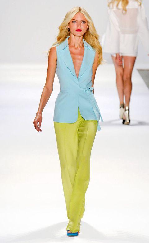 Clothing, Leg, Sleeve, Fashion show, Shoulder, Human leg, Joint, Fashion model, Outerwear, Standing,