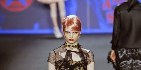 Clothing, Shoulder, Joint, Human leg, Dress, Style, Fashion show, Fashion model, Fashion, One-piece garment,