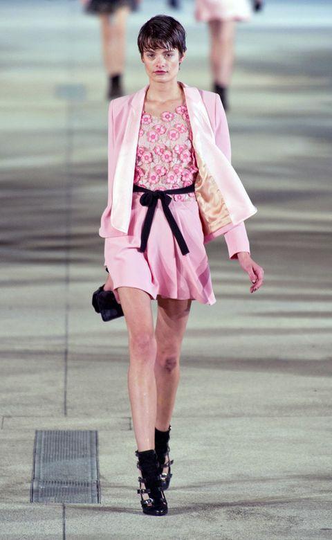 Leg, Human leg, Fashion show, Pink, Style, Runway, Street fashion, Fashion model, Fashion accessory, Knee,