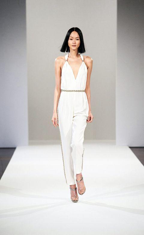 Clothing, Shoulder, Fashion show, Human leg, Joint, Waist, Style, Runway, Fashion model, Knee,