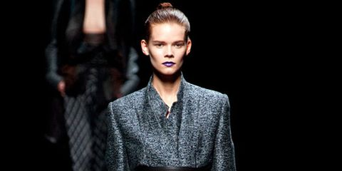 Human, Sleeve, Human body, Textile, Outerwear, Fashion show, Standing, Style, Fashion model, Runway,