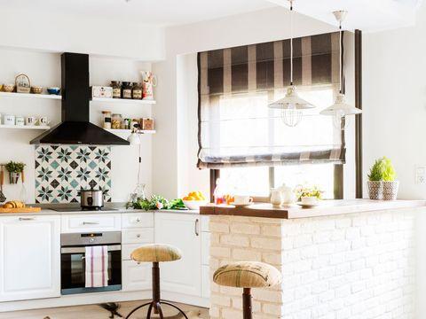 Juega Con Nosotros Ventana En La Cocina Con O Sin Cortina - Que-cortinas-poner-en-la-cocina