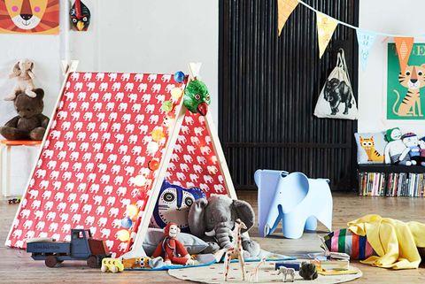 hacer una tienda de campaña para niños con madera y telas