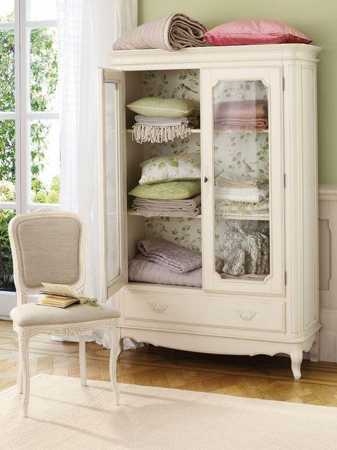 Furniture, Shelving, Shelf, Chair, Peach, Hutch, Cupboard, China cabinet, Towel, Home accessories,