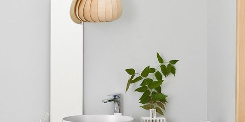 Room, Wall, Interior design, Interior design, Grey, Home accessories, Light fixture, Natural material, Household supply, Still life photography,