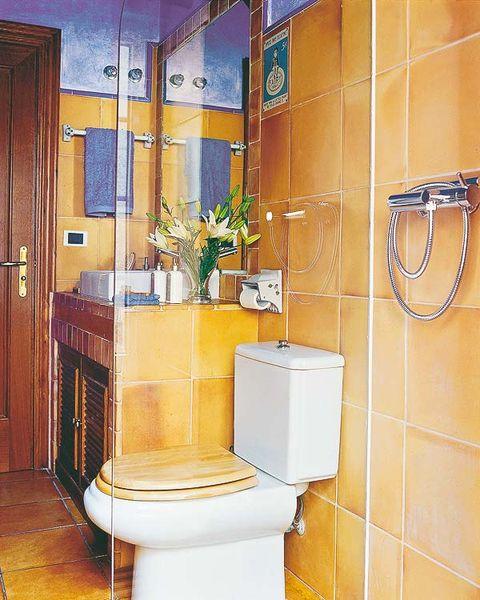 Plumbing fixture, Wood, Property, Floor, Room, Wall, Interior design, Flooring, Hardwood, Tile,