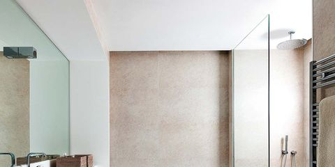 Plumbing fixture, Room, Architecture, Property, Floor, Interior design, Wall, Tap, Flooring, Tile,