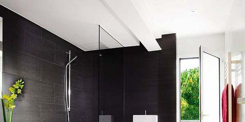 Room, Interior design, Plumbing fixture, Floor, Architecture, Flooring, Property, Tile, Wall, Bathroom sink,
