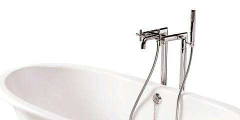 Bathtub, Bathroom sink, Plumbing fixture, Bathroom, Product, Sink, Tap, Plumbing, Bathing,
