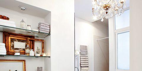 Room, Plumbing fixture, Interior design, Property, Architecture, Floor, Wall, Tile, Flooring, Interior design,