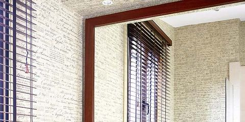 Blue, Wood, Room, Interior design, Plumbing fixture, Architecture, Bathroom sink, Property, Drawer, Tap,