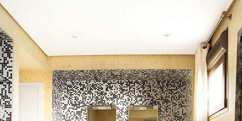 Room, Interior design, Floor, Plumbing fixture, Architecture, Property, Flooring, Wall, Tap, Ceiling,