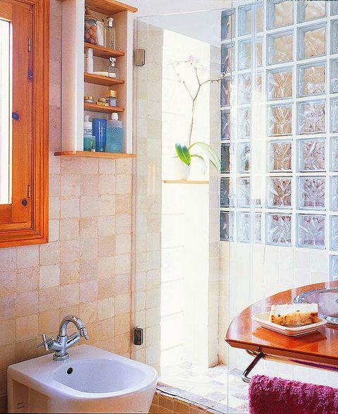 Ba o peque o con ducha de obra for Diseno de cuartos de bano con ducha