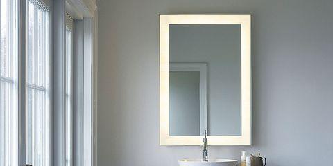 Room, Interior design, Wall, Fixture, Plumbing fixture, Rectangle, Interior design, Door, Home, Mirror,