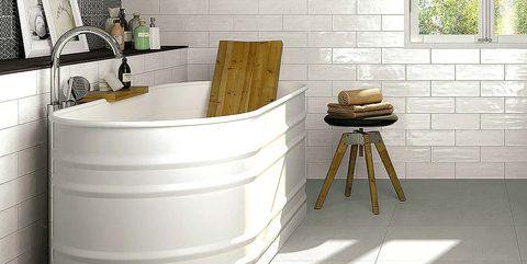 bañera tipo tina de inspiración retro