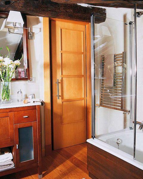 Wood, Room, Property, Floor, Interior design, Architecture, Flooring, Wall, Hardwood, Drawer,