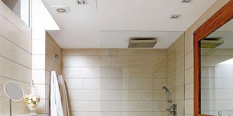 Plumbing fixture, Room, Interior design, Floor, Property, Flooring, Architecture, Wall, Tile, Real estate,