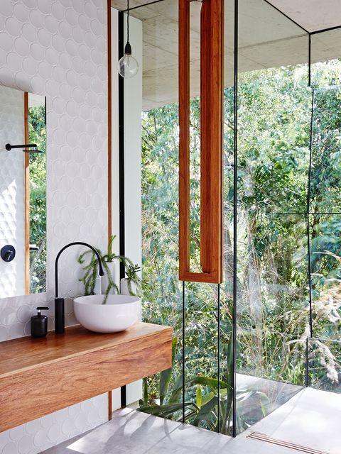 Room, Property, Bathroom, Interior design, House, Door, Tile, Architecture, Building, Floor,