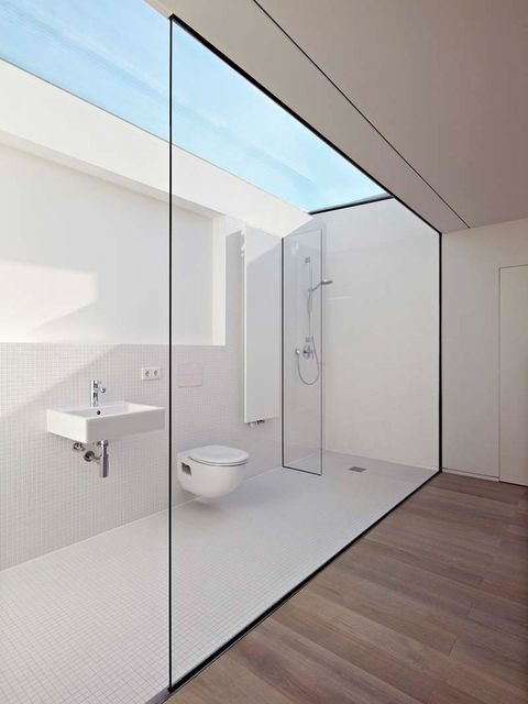 Room, Property, Interior design, Architecture, Bathroom, Glass, Ceiling, House, Floor, Wall,