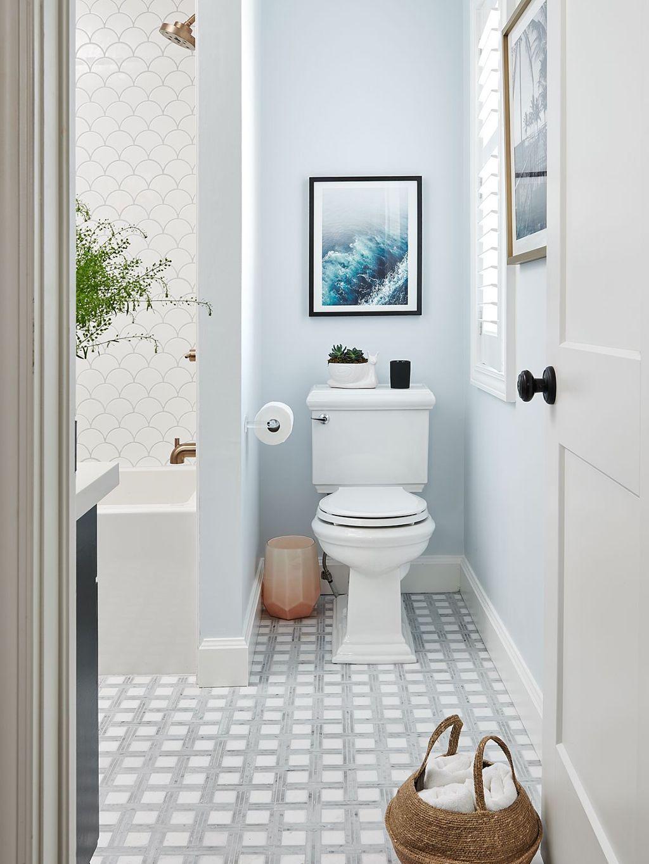 Una Elección De Color Dulce, Sencilla, Y Perfecta Para Ganar Luminosidad.  ¡Ideal Para Baños Peques!
