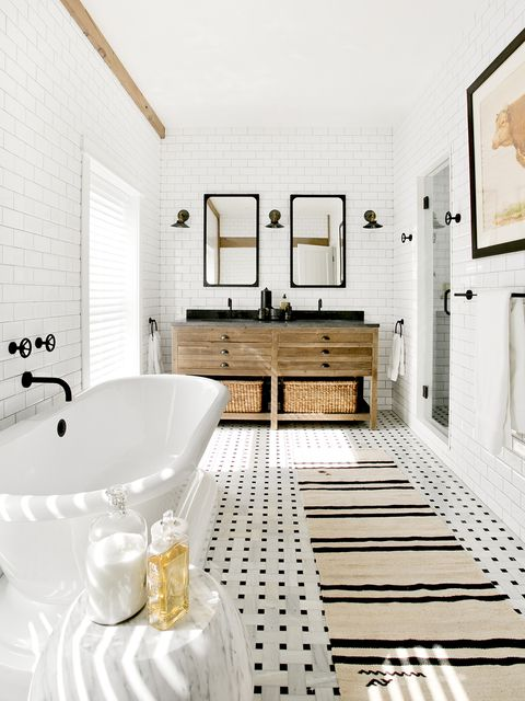 Room, Bathroom, White, Tile, Interior design, Property, Floor, Ceiling, Building, Flooring,