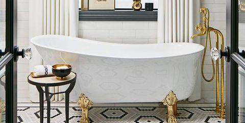 bañera vintage con patas