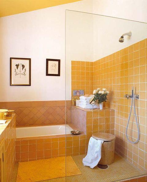 Plumbing fixture, Room, Property, Tile, Wall, Flooring, Floor, Plumbing, Bathroom, Bathroom accessory,