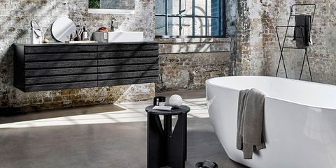 Tile, Wall, Room, Property, Bathroom, Floor, Interior design, Architecture, Tap, Building,
