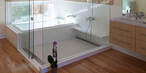 Room, Interior design, Bathroom, Property, Ceiling, Floor, Building, Architecture, Lighting, House,