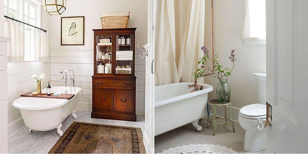 16 baños con encanto vintage - Cuartos de baño