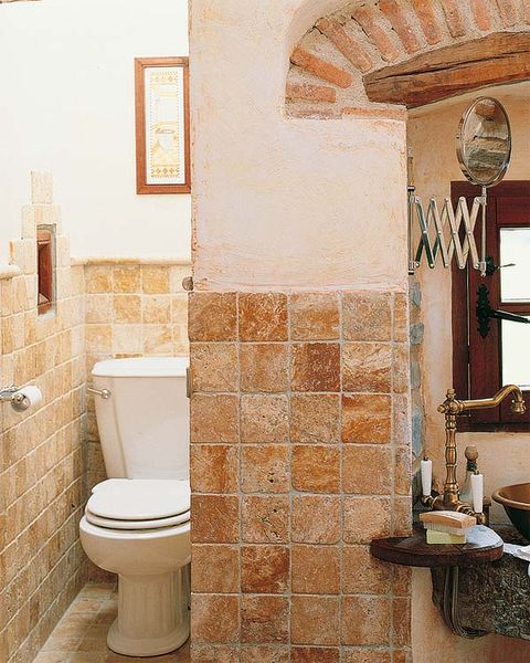 Room, Architecture, Wall, Property, Purple, Plumbing fixture, Interior design, Tile, Toilet seat, Toilet,