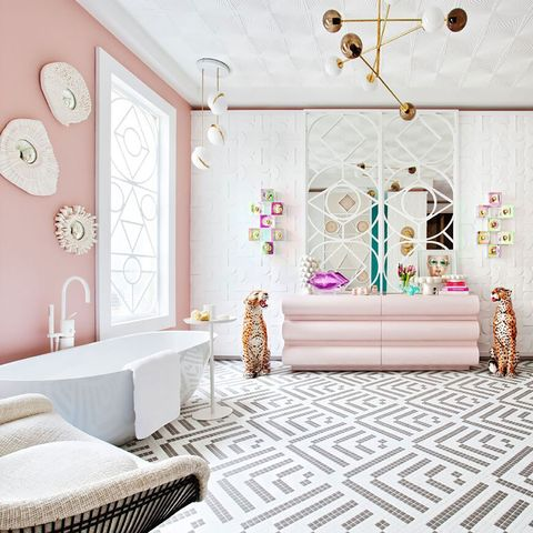 Room, Interior design, Furniture, Wall, Pink, Property, Product, Floor, Wallpaper, Living room,