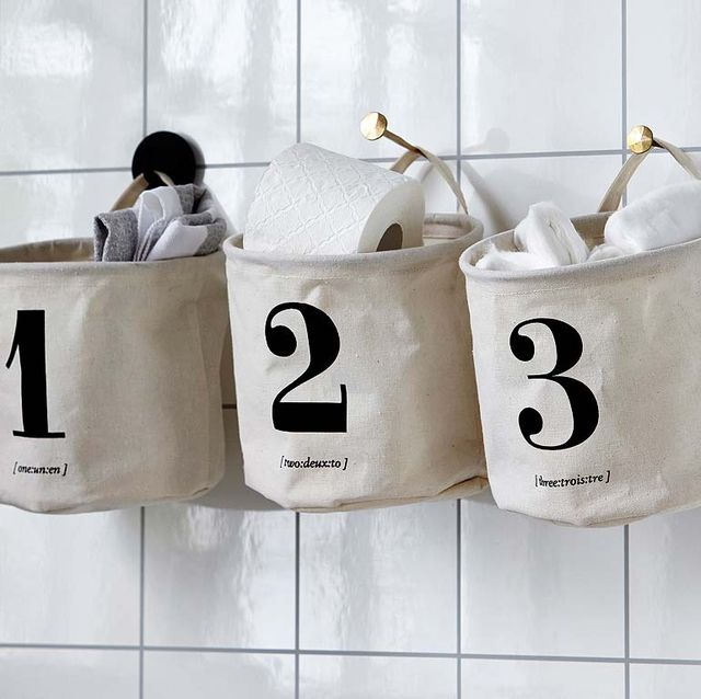 bolsas de tela para almacenaje de baño