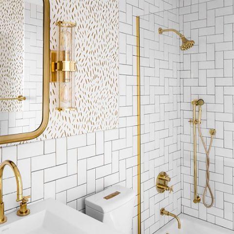 Tile, Wall, Bathroom, Room, Floor, Flooring, Wallpaper, Interior design, Plumbing fixture, Tap,